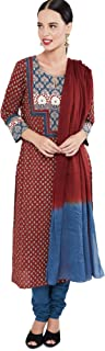 Max Women's Cotton Straight Salwar Suit Set