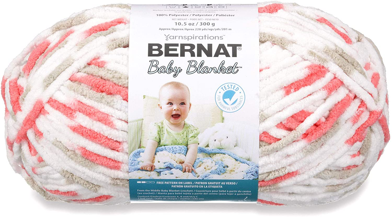 New popularity Spinrite Excellent 16110404329 Baby Blanket Ball Yarn-Flowerpot 10.5 Big