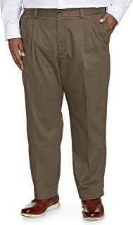 Amazon Essentials Men's Big & Tall Relaxed-fit Wrinkle-Resistant Pleated Chino Pant fit by DXL fit by DXL