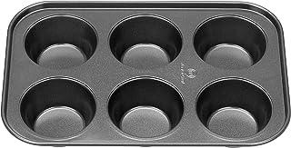MasterChef Roast & Bake Non-stick 6 Cup Muffin Tin Cupcake Tray, 26.7 x 18cm