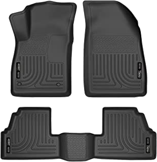 Husky Liners 98271 Fits 2013-20 Buick Encore, 2015-20 Chevrolet Trax Weatherbeater Front & 2nd Seat Floor Mats, Black