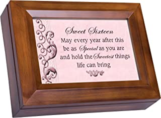 Cottage Garden Sweet Sixteen Every Year Special Sweetest Woodgrain Digital Keepsake Music Box Plays Lean On Me