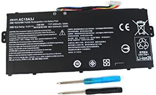 FLYTEN New AC15A3J AC15A8J Battery For Acer Chromebook 11 CB3-131 Series,Chromebook R11 CB5-132T Series,Chromebook C738T Series 12 Months Warranty