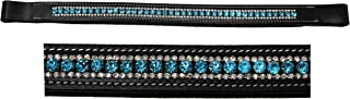 St. Charles BROWBAND Bling Crystal for English Leather Horse Bridle USA Turquoise Polo 80969
