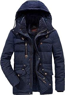 Yumso Homme Doudoune /Épaissir Chaude Manteau dhiver /à Capuche Doublure Casual Trench Coat /à Capuche Manches Longues de Coton Manteau Doudoune M-4XL