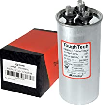 ToughTech 50+5 uf MFD 97F9850 Dual Run Round Capacitor 370 or 440 VAC for Air Conditioner