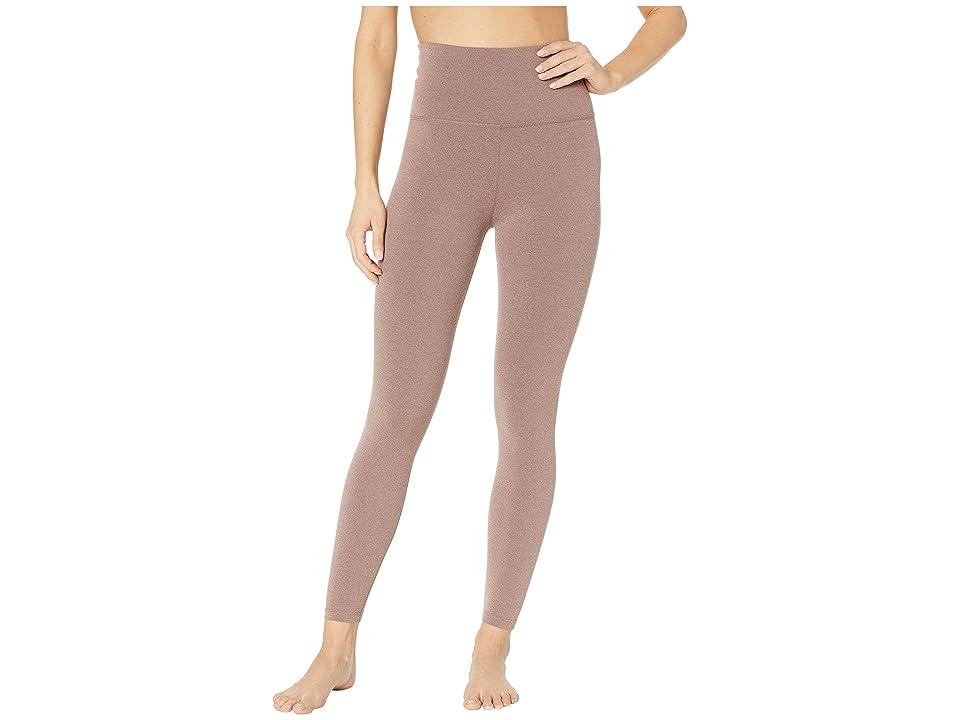 Beyond Yoga High-Waisted Midi Leggings (Pink Lei Heather) Women