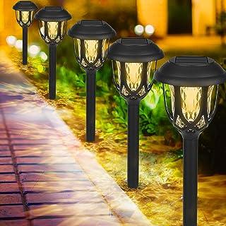 Molbory Lampes Solaires de Jardin, Lot de 6 Lampes Solaires de Jardin, Etanche Lampe sans Fil Extérieures Solaires Décorat...