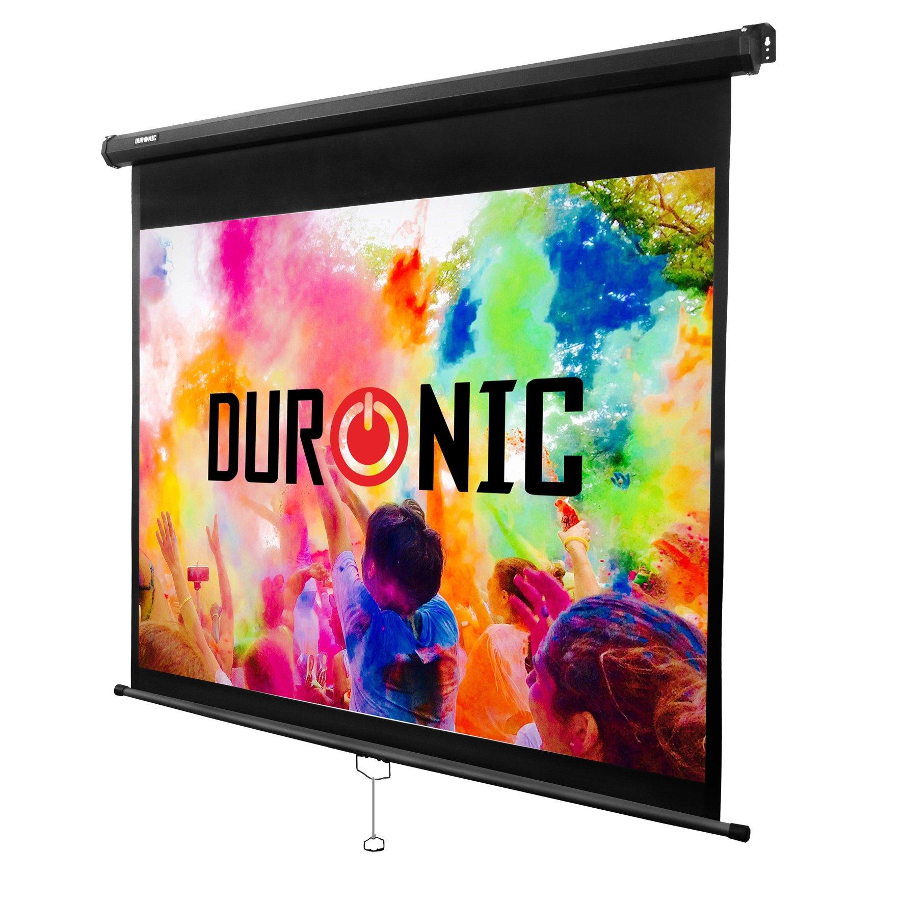 """Duronic MPS60 /43 Pantalla de Proyección Enrollable Manual, Pantalla para Proyector 60"""" 4:3 (122 x 91 cm), Full HD y 3D, Fijación de Pared y Techo: Amazon.es: Electrónica"""