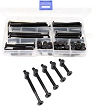 binifiMux 50pcs Black Hex Socket Cap Bolts Barrel Nuts Assortment Kit for Crib Baby Bed Cots Furniture, M6 x 40mm/ 50mm/ 60mm/ 70mm/ 80mm