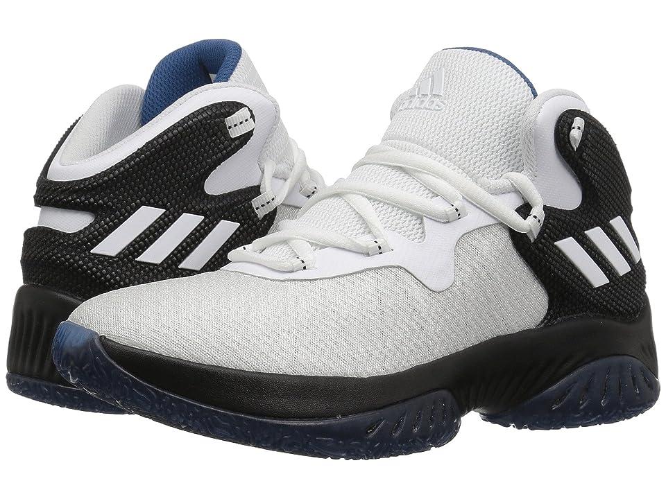 adidas Kids Explosive Bounce J (Big Kid) (Black/White/Blue) Boys Shoes