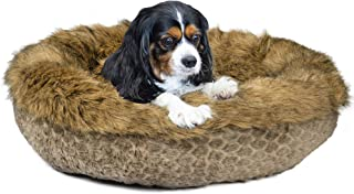 Ador-A-Pet Luxury Faux Fur Dog Bed for Small and Medium Dogs. 30 Inch Size.  Plush Quality Filling ,Self Warming. Raised Sides,Fully Washable,Non Slip Base