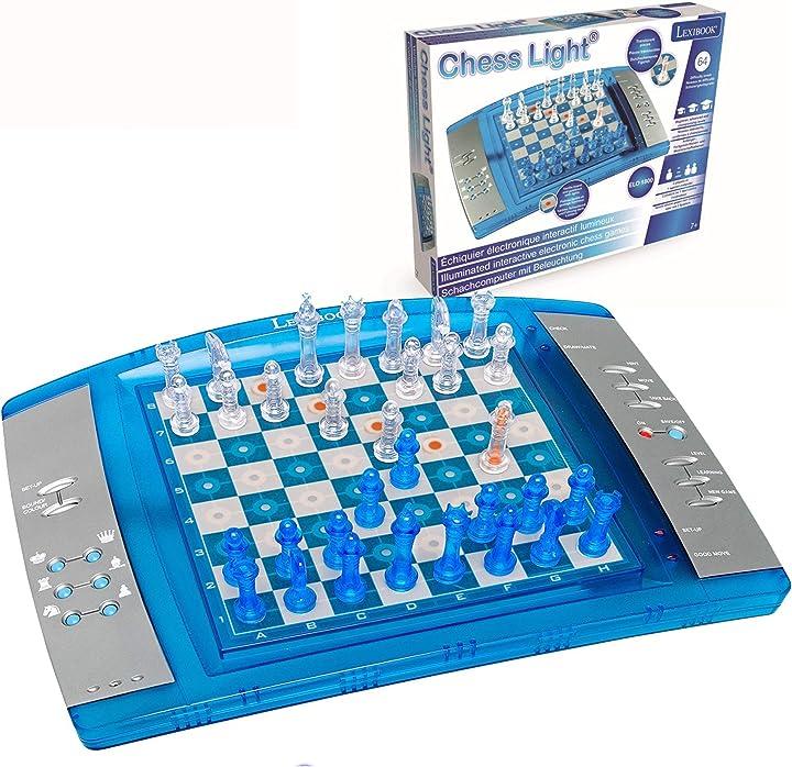 Gioco degli scacchi elettronico con tastier sensitive e luce e effetti sonori 32 pezzi 64 livelli lexibook B000934X6A