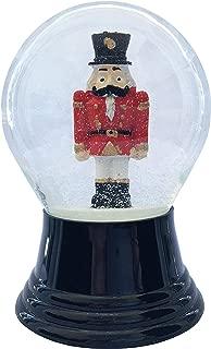 Alexander Taron Perzy Nutcracker Midnight Black 5 x 3 Glass and Wood Christmas Snow Globe
