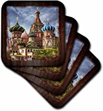3dRose cst_31524_3 Russian Cathedral-Ceramic Tile Coasters, Set of 4