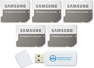 Samsung Micro to SD Memory Card Adapter (Bulk 5-Pack) Bundle with (1) Everything But Stromboli Micro & SD Card Reader