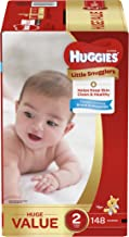 Huggies Little Snugglers Baby Diapers, Size 2, 148 Count, HUGE PACK (Packaging May Vary)