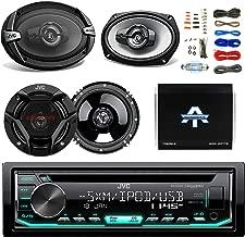 JVC CD/MP3 AM/FM Radio Player Car Receiver Bundle Combo with 2x JVC 300W 6.5