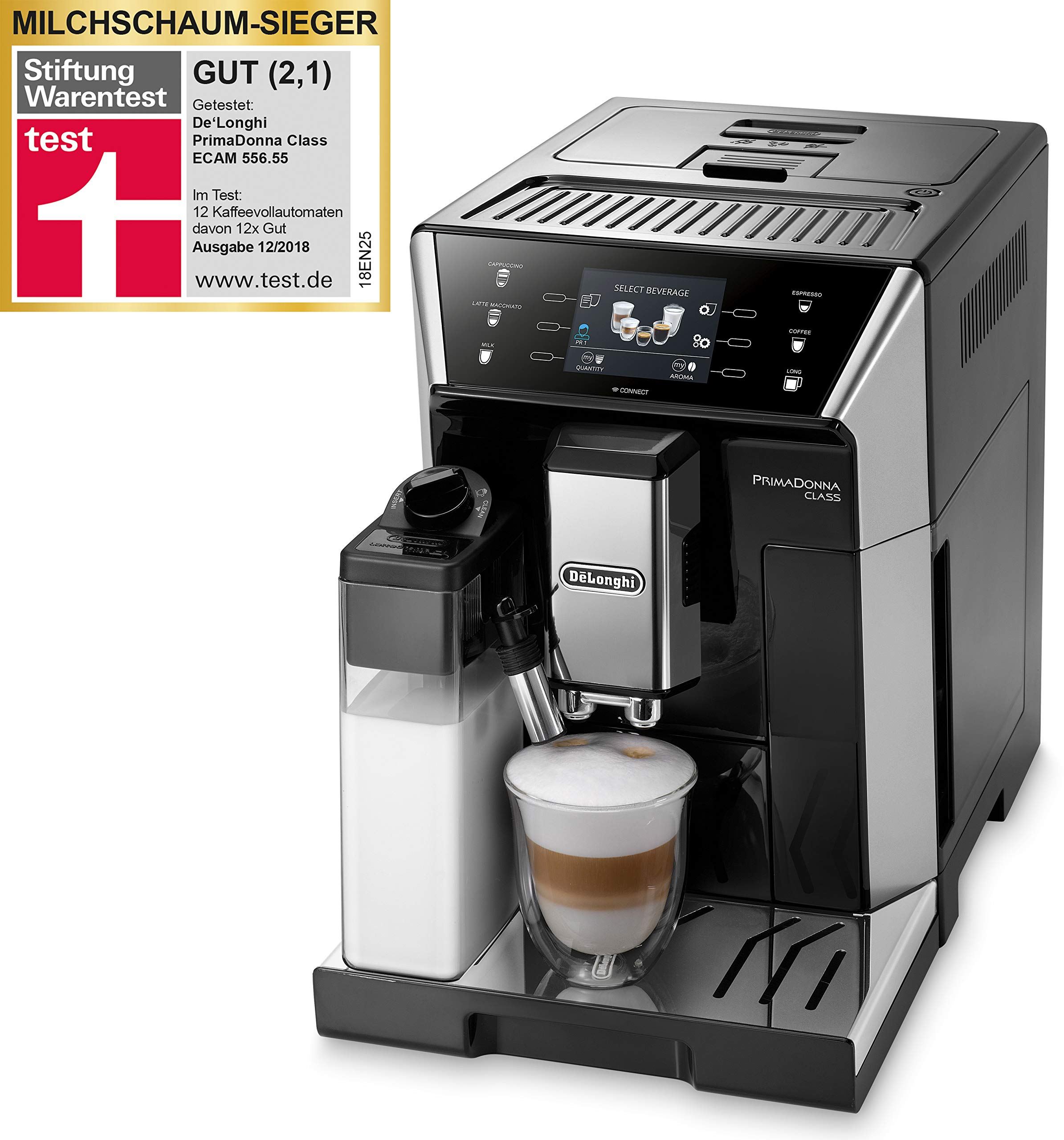 DeLonghi ECAM 556.55.SB Cafetera automática, 1450 W, 2 Cups, Negro ...