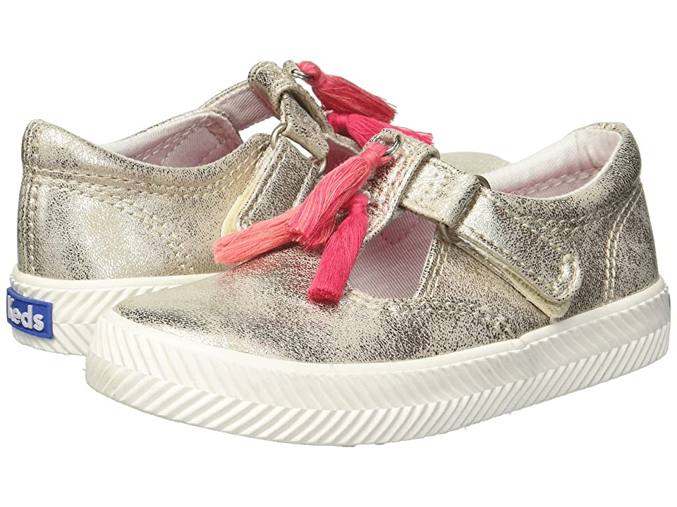 Keds Kids Daphne Herringbone (Toddler/Little Kid) (Gold Synthetic) Girls Shoes