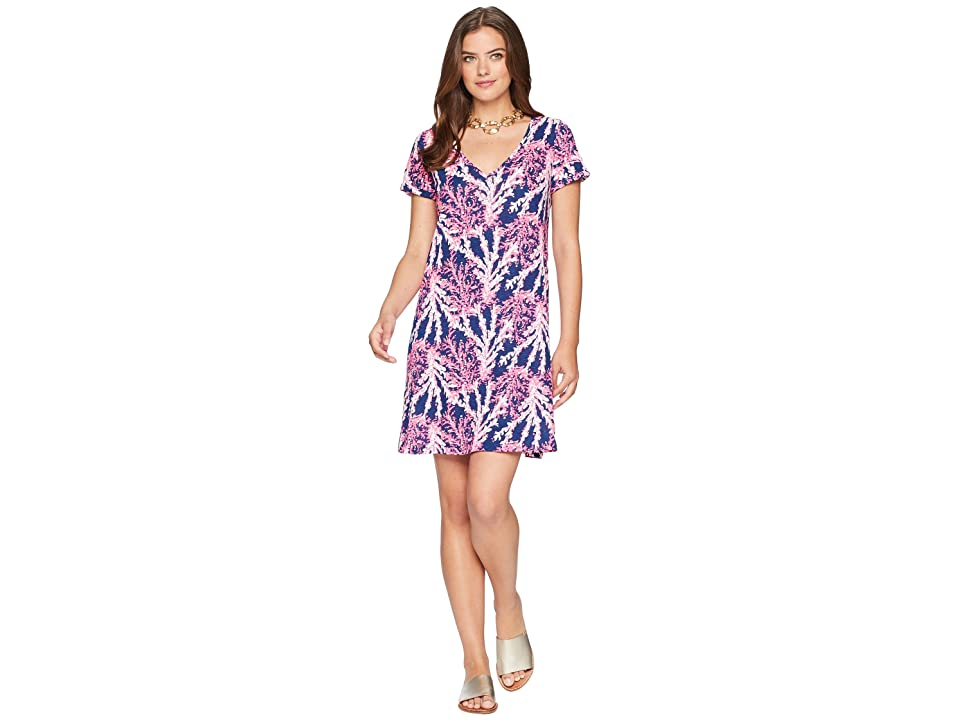 Lilly Pulitzer Jessica Short Sleeve Dress (Nauti Navy Beyond the Sea) Women's Dress
