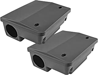 iTrap Rodent Control iTrap-005-S2 iTrap Rat & Mouse Bait Station Trap, Set of 2-Safe for Children & Pe, Black