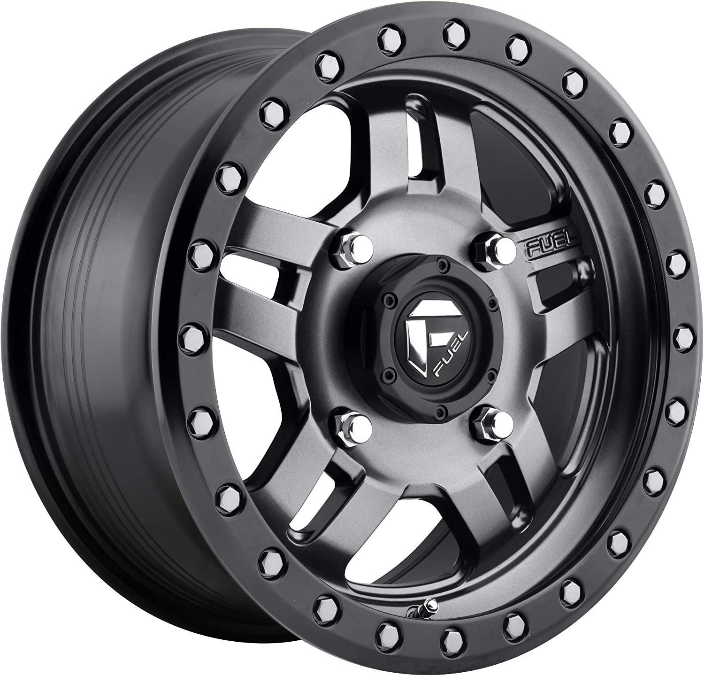 Fuel Large discharge sale D558 Anza ATV UTV 15x7 4x156 +13mm Gunmetal Wheel Rim Challenge the lowest price