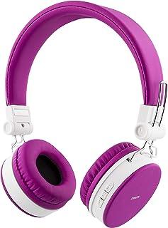 STREETZ HL-425 justerbart pannband över-öron hopfällbara hörlurar – rosa