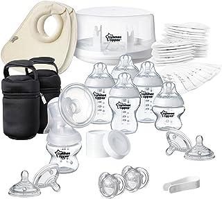 Tommee Tippee Closer to Nature - Pack de esterilizador para microondas y sacaleches