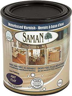 SamaN 160-005-1L 1-Quart Interior Water Based Flat Varnish with Aluminum Oxide