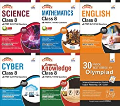 Olympiad Champs Science, Mathematics, English, Cyber & GK Class 8 with 30 Mock Tests (Set of 6 Books) 2nd Edition