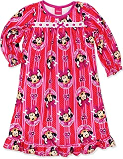 Minnie Mouse Girls Flannel Granny Gown Nightgown (Toddler/Little Kid/Big Kid)