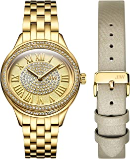 JBW Luxury Women's Plaza Diamond Two Interchangeable Band Watch - J6366-SetB