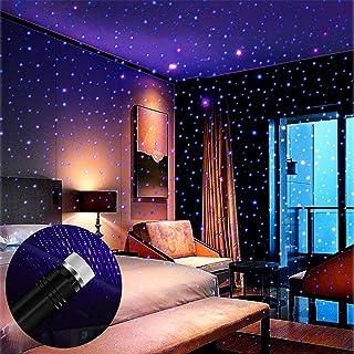 Star Projector Night Light, BAILONGJU Auto Roof Lights, Adjustable Romantic Violet Blue Interior Car Lights, Portable USB ...