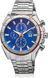 Joshua & Sons Men's Blue Dial Stainless Steel Band Watch - JS68OR