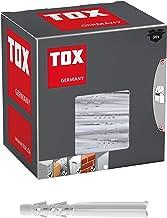 TOX Multifunctionele pluggen met omslagbare kraag Tetrafix XL 8 x 80 mm, verlengde schacht voor frame - toepassingen, 50 s...