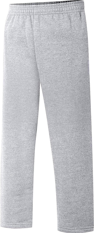 Hanes Big Boys' Eco Smart Fleece Open Bottom Pant, Light Steel, X-Small