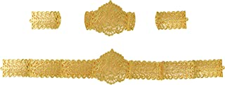 UG PRODUCTS Gold Plated Plain Waist Belt for Women