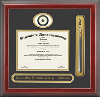 Signature AnnouncementsWest-Virginia-State-Community-/&-Technical-College Undergraduate Sculpted Foil Seal /& Name Graduation Diploma Frame 16 x 16 Gloss Mahogany with Gold Accent