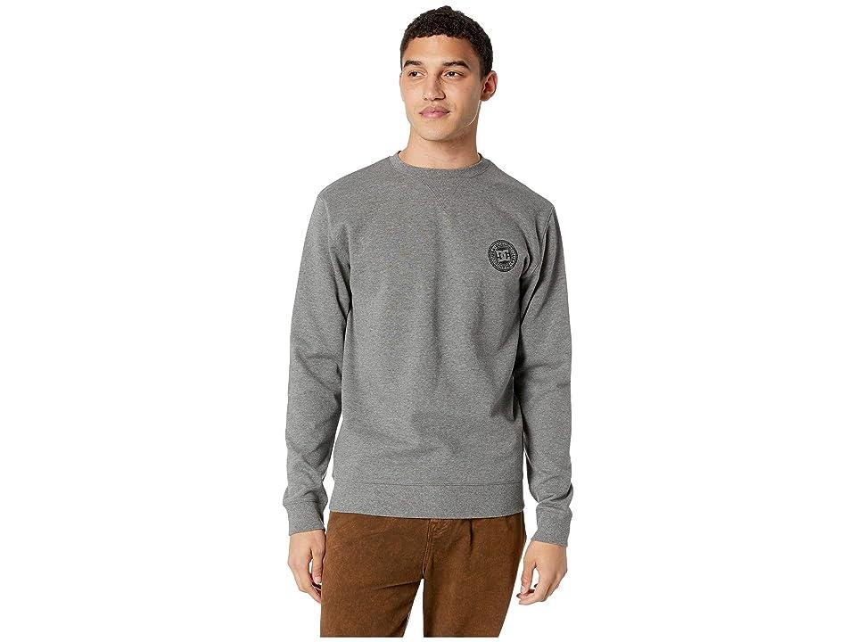 DC Rebel Crew Sweater (Charcoal Heather) Men