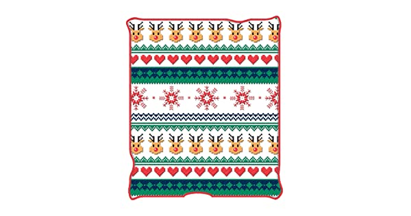 50 x 60 inches Silver Buffalo NL5227 Ugly Christmas Deer Jumping Micro Plush Throw Blanket