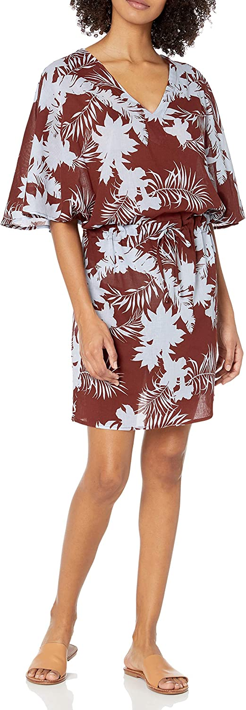Seafolly Women's Standard Printed Kaftan Swimsuit Cover Up Dress