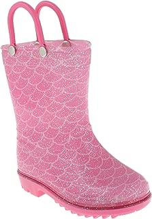 Capelli New York Toddler Girls Pretty Fox Rain Boots with 3D Applique and Allover Glitter