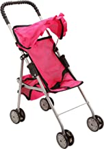 Best Mommy and Me My First Baby Doll Stroller with Basket, Extra Tall 23 Inch, Foldable Stroller for Toddlers, Hot Pink Review