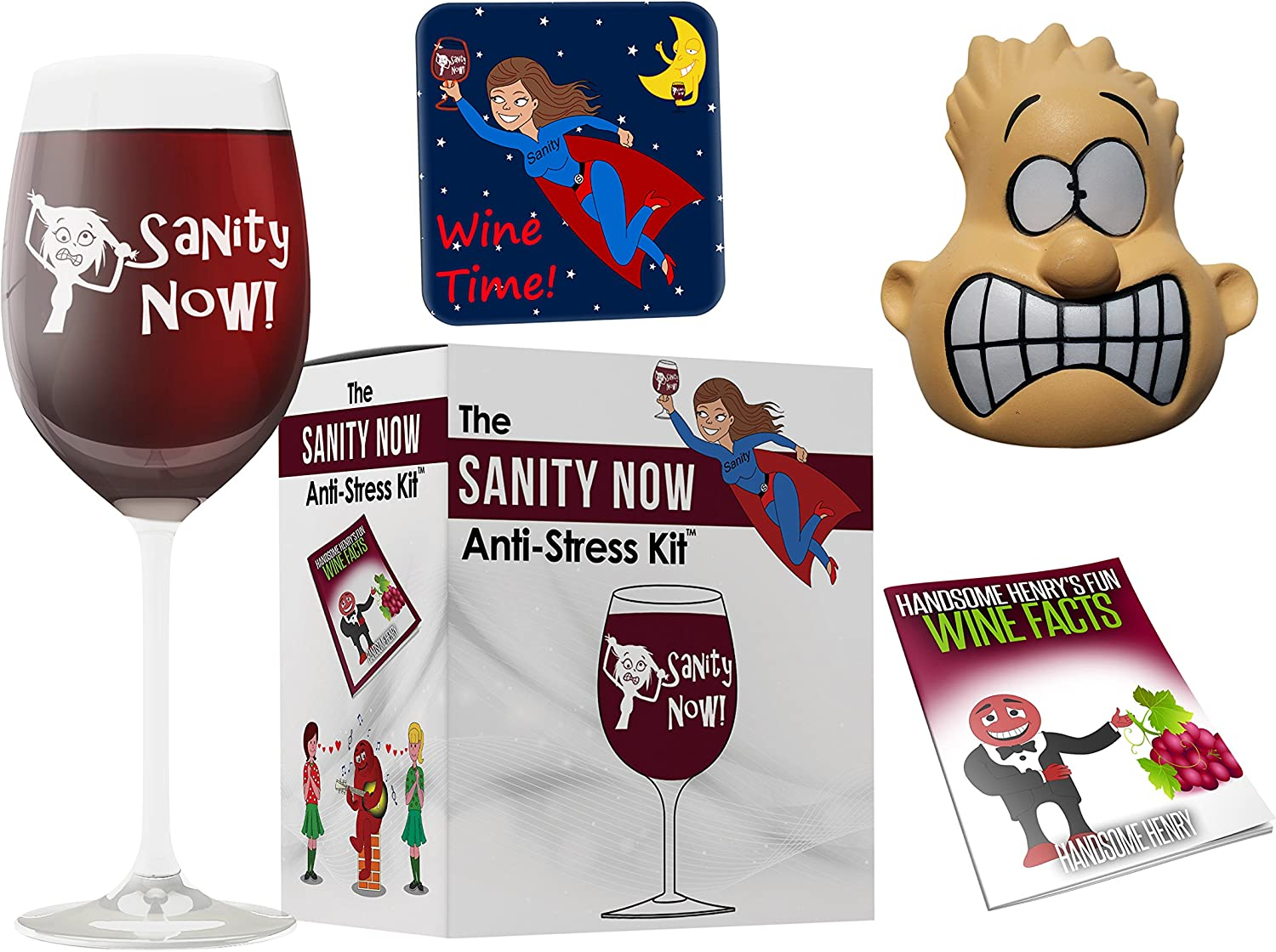 Ranking integrated 1st Outlet SALE place Wine Lover's Funny Gift - Sanity G Fun Now Kit. Anti-Stress