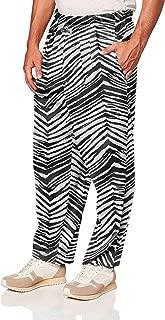 Men's Classic Zebra Printed Athletic Lounge Pants, Black, S