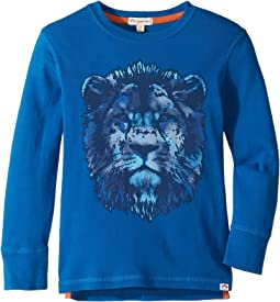 Extra Soft Lion Face Graphic Long Sleeve Tee (Toddler/Little Kids/Big Kids)