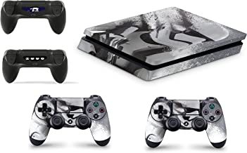 Gizmoz n Gadgetz PS4 Slim Console Skin Vinyl Cover Decal Sticker Star Wars Battlefront Stormtrooper + 2 Controller Skins Set