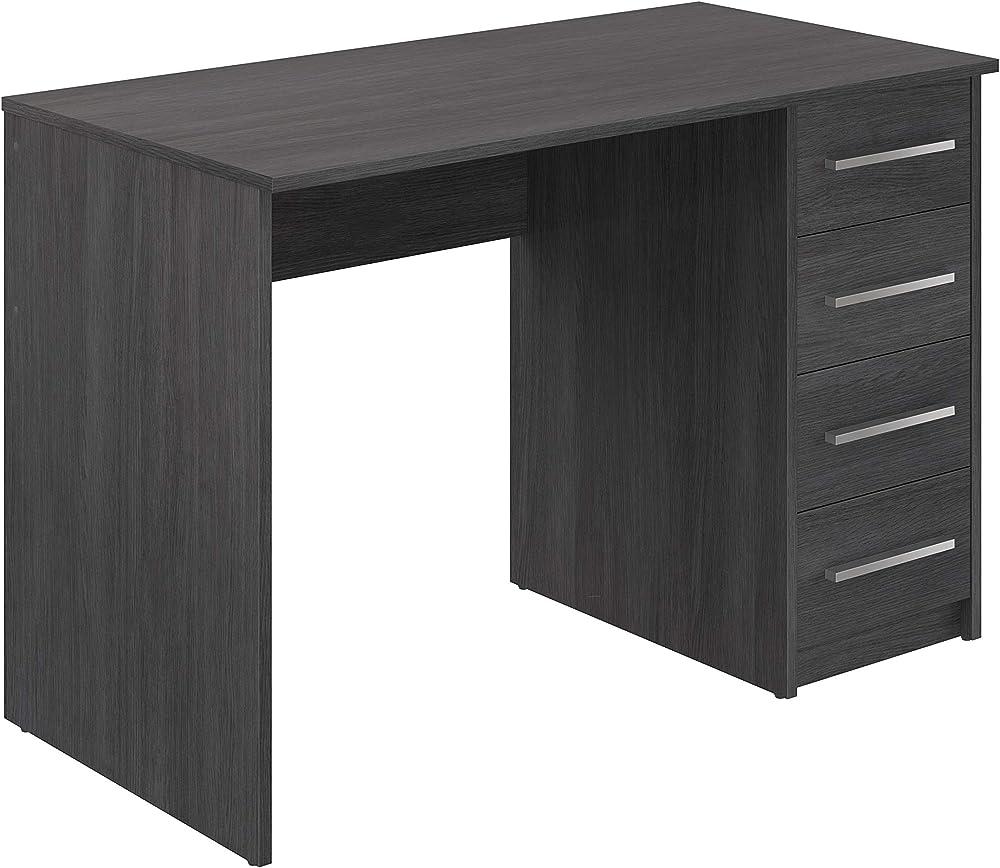 Movian, scrivania con 4 cassetti ,in stile moderno, modello idro, 56 x 110 x 73 cm, colore grigio T80530MM07LVO