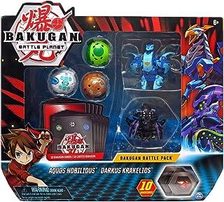 Bakugan, Battle Pack 5 Pack, Aquos Nobilious & Darkus Krakelios, Collectible Cards & Transforming Creatures, for Ages 6 & Up
